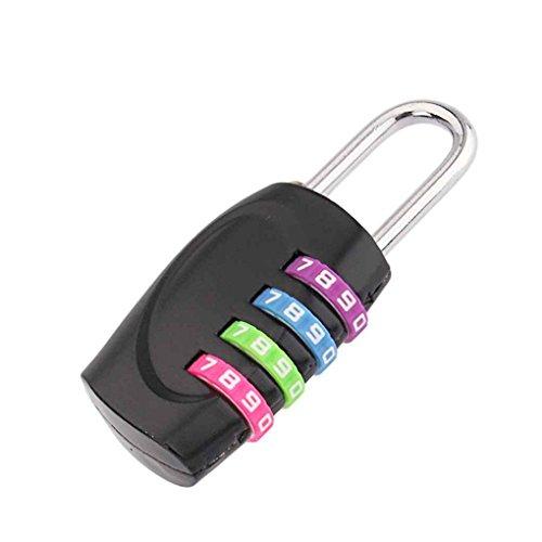 Junecat Nueva 4 dígitos combinación de Cuerpo de Aluminio Candado de contraseña...
