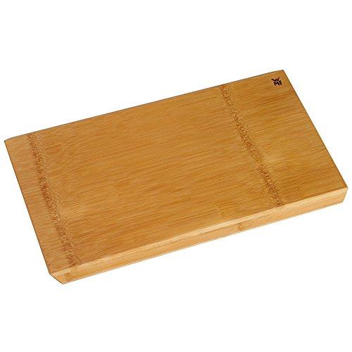 WMF Bambus-Schneidebrett Edge 45 x 28 cm rechteckig klingenschonend Küchenbrett Hackbrett Bambus Holz natur Handwäsche