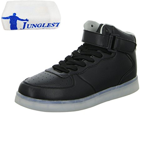 (Present:kleines Handtuch)JUNGLEST® Kinder Jungen Mädchen LED Schuhe Leuchtend Sneaker Farbwechsel Fluorescence Turnschuhe Sportsschu c41
