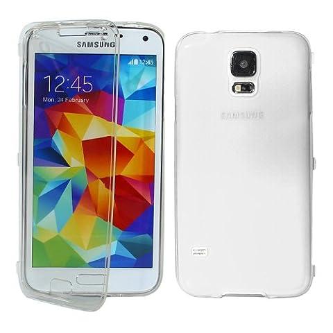 ebestStar - pour Samsung Galaxy S5 G900F, S5 New G903F Neo - Housse Etui Coque Silicone Gel Portefeuille, Couleur Transparent [Dimensions PRECISES de votre appareil : 142 x 72.5 x 8.1 mm, écran 5.1'']