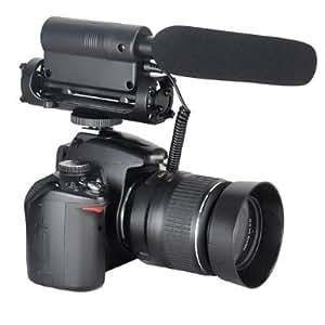 TAKSTAR SGC-598 Micro Stéréo Neuf Shotgun pour Canon 5D Mark II, 7D, 550D, 600D Nikon Pentax Olympus Panasonic Sony DSLR vidéo caméra DV