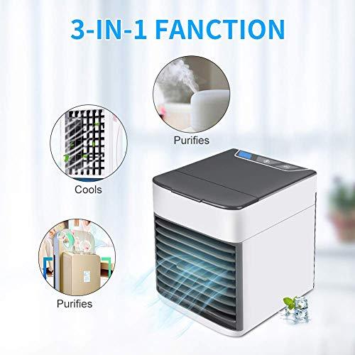 SHUANG Air Portatil Cooler, Climatizador Evaporativo, Aire Acondicionado, 3-en-1 Mini Ventilador Humidificador...