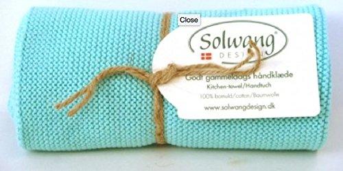 Solwang Handtuch gestrickt im in Aqua Türkisgrün H21