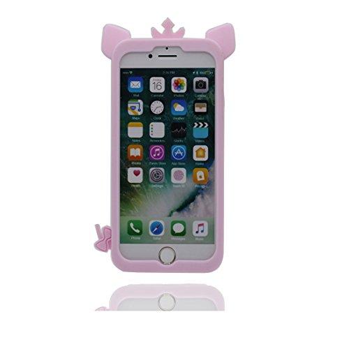"""iPhone 7 étui, iPhone 7 (4.7 """") coque souple TPU souple pour iPhone 7 (4.7"""") [Résistant aux chocs, résistant aux rayures] Cochon Couronné, peau, iPhone 7 4.7"""