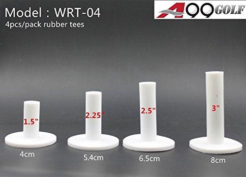 4pcs/pack wrt-04A99in gomma gamma Tee da golf con 4misure diverse