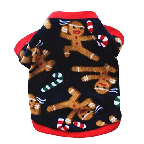 AMURAO Winter Hund Kleidung,Haustier Mantel Weihnachten Schneemann Schneeflocken Haustier Pullover Shirt Kostüm