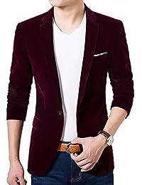 6908dbffdb22 KINDOYO Modern Men Blazers Suits - One Button Winter Casual Long Sleeve Blazers  Coat Slim Fit
