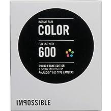 Impossible película instantánea para Polaroid 600 cámara (color) con 8 fotos White Round Frame