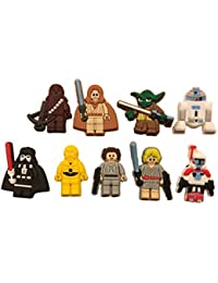 Star Wars Shoe Charms Set of 10 Shoes, Crafts, Cake Toppers