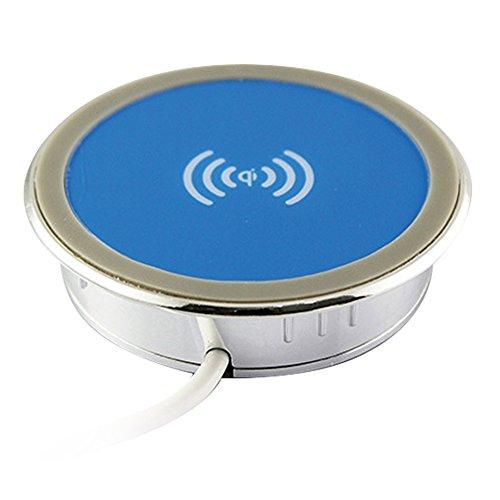 Karma Qi 84Cargador de inducción plateado y azul