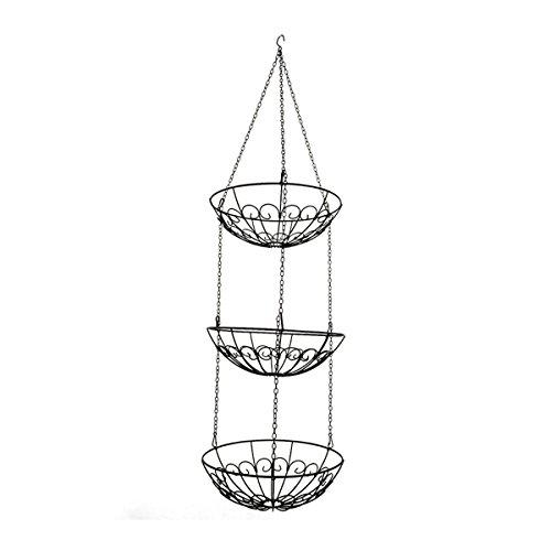 ounona 3-Tier-Draht Hängekorb Metall Obst Swing Schüssel Gemüse Küche Aufbewahrungskorb (3-tier-draht-körbe)