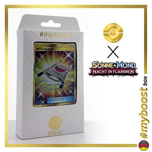 Rettungstrage (Camilla de Rescate) 165/147 Entrenadore Secreta - #myboost X Sonne & Mond 3 Nacht in Flammen - Box de 10 Cartas Pokémon Aleman