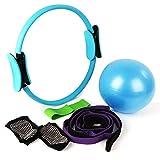 Calze yoga+Banda di resistenza+pilates ball+palla di pilates+Cinturino Yoga Set di 5 pezzi