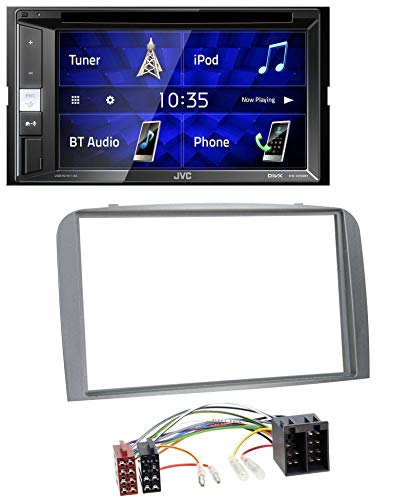 caraudio24 JVC KW-V250BT 2DIN CD DVD USB Bluetooth MP3 Autoradio für Alfa Romeo 147 GT 00-10 Silber (Autoradio Jvc Dvd)