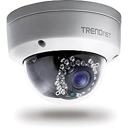 TRENDnet Indoor/Outdoor Dome PoE IP Kamera mit 3 Megapixel Full 1080p, IP66 zertifiziertes Gehäuse, Nachtsicht bis zu 25 Meter, ONVIF, IPv6, TV-IP311PI