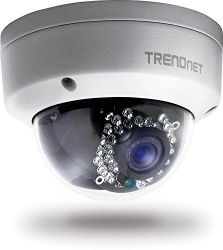 TRENDnet Indoor/Outdoor Dome PoE IP Kamera mit 3 Megapixel Full 1080p, IP66 zertifiziertes Gehäuse, Nachtsicht bis zu 25 Meter, ONVIF, IPv6, TV-IP311PI Indoor-outdoor-kamera