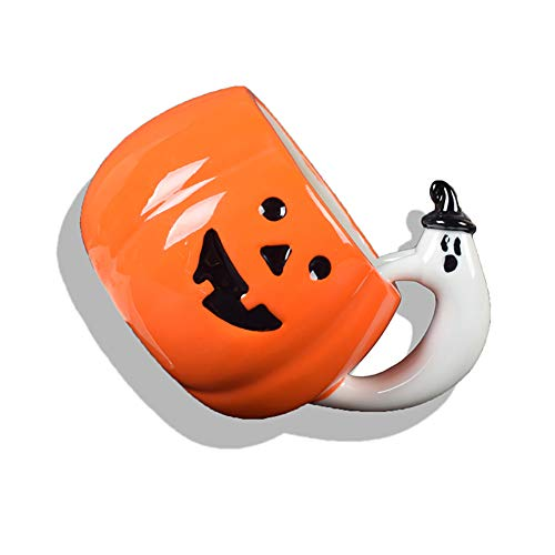 Wudi 1 Pc Halloween-Becher-Schale Kürbis-Muster-Keramik-Kaffeetasse Milch-Schale für Halloween