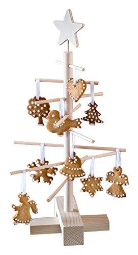 xmas3 XS - 45 cm Weihnachtsbaum aus Holz, Natural, 28 x 28 x 45 cm