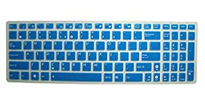 CaseBuy Keyboard Protector Cover for ASUS G501JW K501UX K501LX GL551JM GL551JW GL552VW GL552JX Q552UB Q503UA F554 F554LA F555 F555UA F555LA R556LA N551JQ X550ZA X751LAV GL752VW(Transparent Blue)