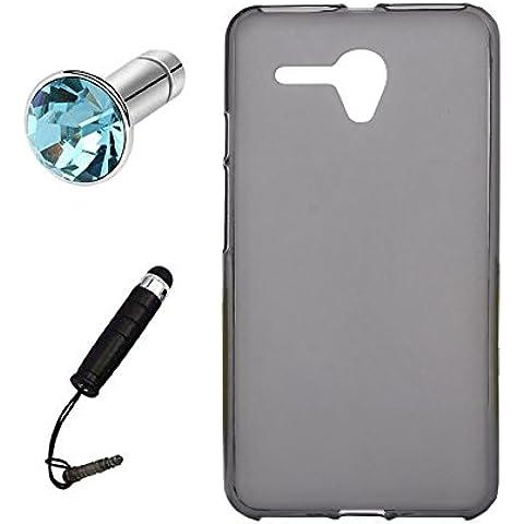 Lusee® Funda de silicona para Alcatel Onetouch Pop 3 5025D 5.5 Suave Cascara TPU gris semi
