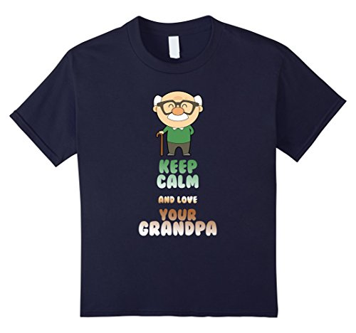 Grandpa T-shirt - Keep calm and love your grandpa