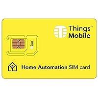 SIM Card per Smart Home/Domotica - GSM/2G/3G/4G - ideale per allarmi, sensori, apriporta intelligenti, climatizzatori, caldaie, apricancello, contatori del gas, con € 10 di credito incluso.