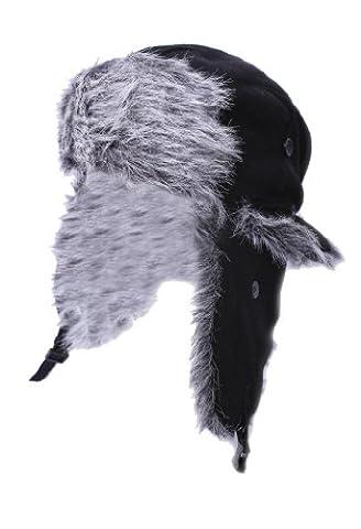 Thermiques pour homme Polaire chaude en hiver russe Durable Trapper Bonnet de Ski