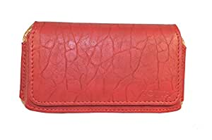 TOTTA PU Leather Hand Pouch For Samsung galaxy j1 ace- RED