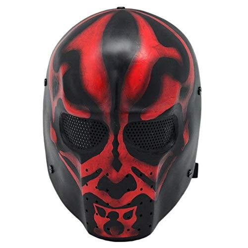 aske Cs Feldschutzmaske Halloween Maskenstange Verkleidet Requisiten,Black-OneSize ()