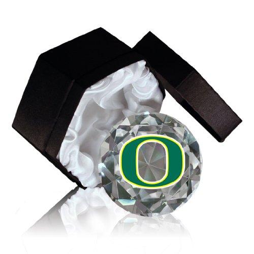 Paragon NCAA Oregon Universität Enten auf einem 4-Zoll hohe Brillance Diamantschliff Kristall Briefbeschwerer -