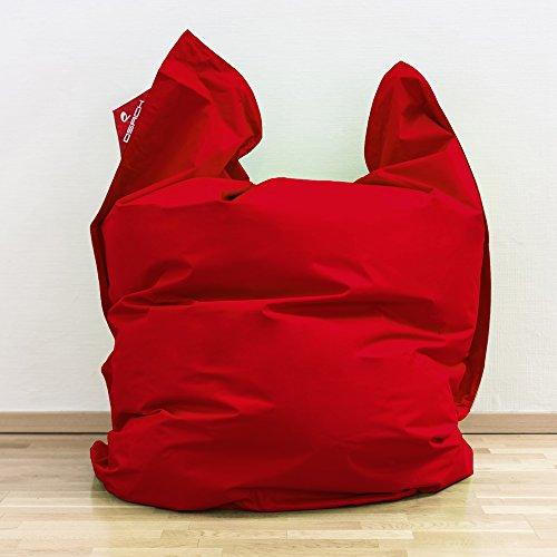 QSack Outdoor Sitzsack XXL, Deutscher Qualitätsfüllung, 140x180 cm (Rot)