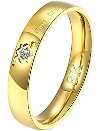 HMILYDYK Mujeres Pendientes bañados en oro 18 K cristal grabado