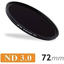CameraPlus - Filtro de Densidad Neutral Slim S-Pro1 MC ND1000 72mm + Cap para el filtro: Aluminio