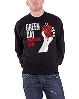 Green Day Herren Sweatshirt Schwarz American Idiot band logo offiziell