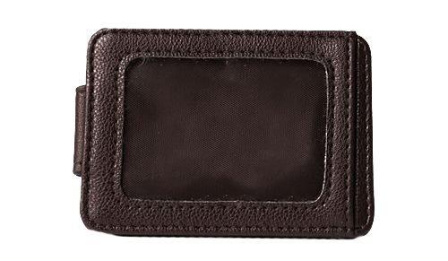 Herren Magnetische Geld Clip (Sanis Unternehmen Herren Magnetisch Kunstleder RFID geschützt CC/ID Taschen Geld Clip, 3–7/20,3cm L x 10,2cm H x 1/10,2cm W, braun)