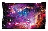ABAKUHAUS Galassia Tappeto da Parete e Copriletto, La Nube di Magellano Stelle e Fantastico Cosmo Colorato Disegno, Resistente alle Macchie, 230 x 140 cm, Multicolore