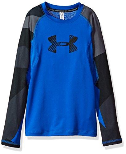 Under Armour Jungen HG Novelty Longsleeve Langarmshirt, Ultra Blue, S