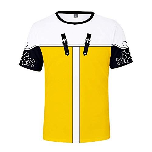 Kurzarm Herren Ports T-Shirt, Königreich Herz 3D-Druck Kurzarm, übergroße Code T-Shirt Herren Casual Top-XXS-4L,D,XXXXL