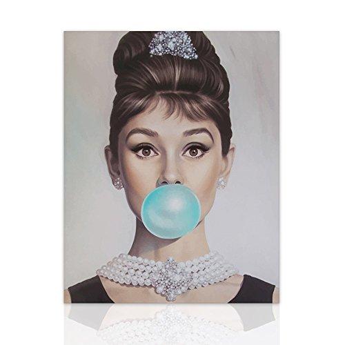 Declea Bild Audrey Hepburn Glamour Blase Frühstück von Tiffany Eleganz - Canvas Modern Art Handmade Holzrahmen Hauptlieferung Home Dekoration Wand Mode Illustration