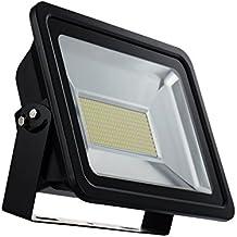 europalamp lfl52–400Proyector LED SMD exterior y interior 400W aluminio blanco