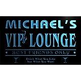 qi004-b Michael's VIP Lounge Club Cocktails Neon Sign Barlicht Neonlicht Lichtwerbung