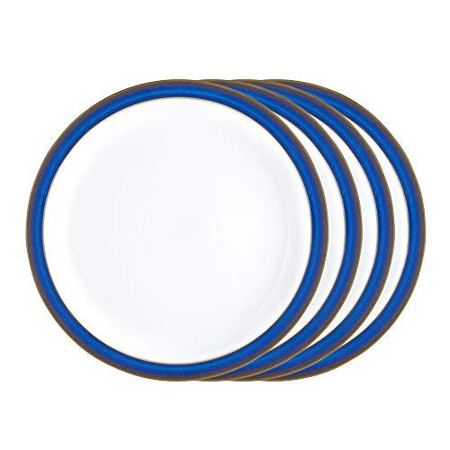 Denby IMP-003/4 Imperial Blue Set of 4 Dinner Plates Teller-Set, Steingut, kobaltblau Denby Blue Plate