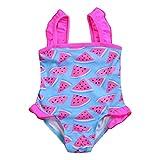 Maillot de bain Bebe Fille 6mois 12mois 18mois 24mois 1 pièce anti-UV Bikini Bebe Lavable Couche de Bain Motif Pasteque à Séchage Rapide Combinaison bébé maillot de Plongée (70(0-6mois))