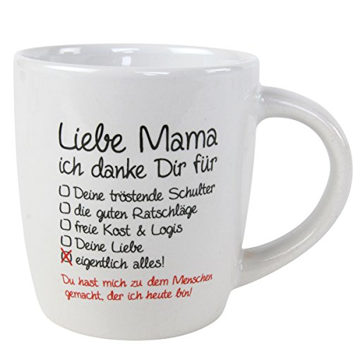 Annastore Tasse Liebe Mama ich Danke Dir. 230 ml Mamatasse Muttertag Mami Mutti - ideales Geschenk für die Beste Mama