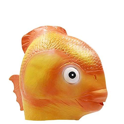 Goldfish Maske Halloween Kostüm Party Latex ()