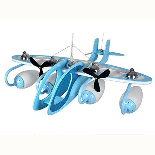 Guo Kinderzimmer-Lichter Jungen-Schlafzimmer-Flugzeug-Lichter Kronleuchter-Pers5onlichkeit-kreative Legierungs-Lampen E14 Lampen-Hafen