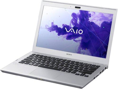 Sony VAIO SVT1312M1ES 33,8cm (13,3 Zoll Touch) Ultrabook (Intel Core i3 3217U, 1,8GHz, 4GB RAM, 500GB HDD + 32GB SSD, Intel HD 4000, Win 8) silber metallic