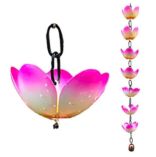 CT DiscountStore Dekorieren Sie Ihr Haus mit Regenkette Lotus Rain Chain