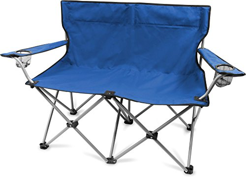 normani Camping Faltstuhl ohne Armlehne mit Transportbeutel Farbe Blau