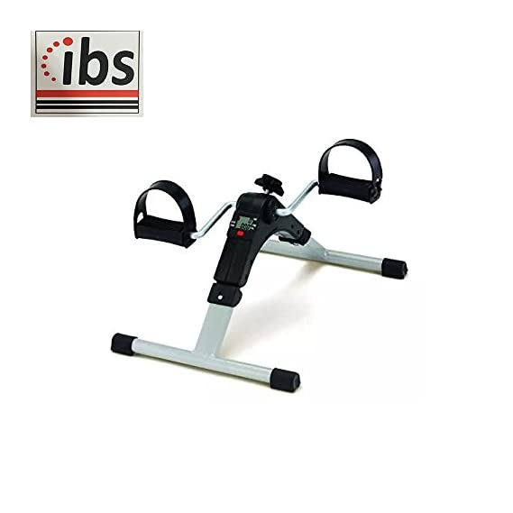 IBS Pedal Exercise Cycle/Bike Exerciser Cum Cardio Cycle with Digital Display Fast Calories Burn Weight Loss Kit for Men & Women (Black/Silver)